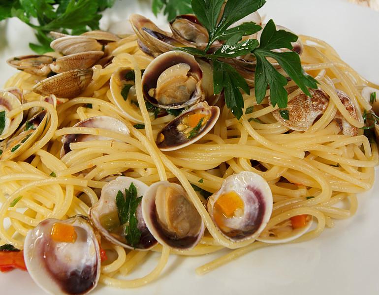 Spaghetti co le bibarasse