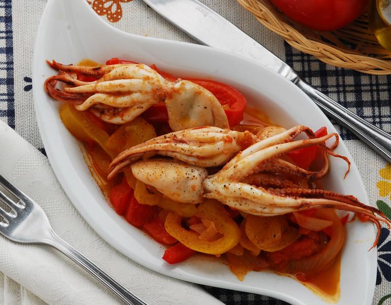 Moscardini con peperoni